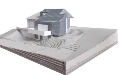 Baueingabe für einen einseitig angebauten dreigeschossigen Neubau in 8123 Ebmatingen